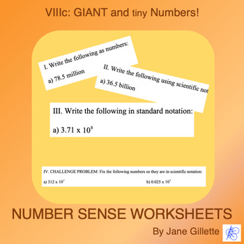 Giant and Tiny Numbers C