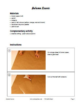 Giant autumn leaves writing activity