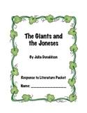 Giants and the Joneses-Common Core Aligned Novel Study