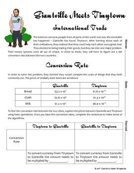 Giantville Meets Tinytown -- Scientific Notation - 21st Century Math Project