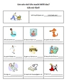 Gib mir fünf!  High-Five Activity for Telling Time