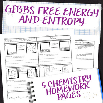 Gibbs Free Energy And Entropy Chemistry Homework Pages By Science