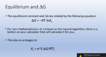 Gibbs Free Energy and Equilibrium
