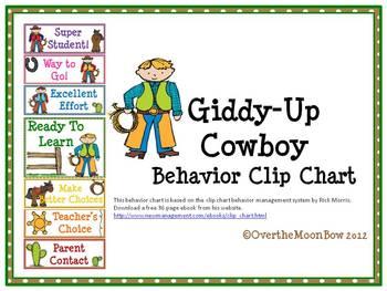 Giddy-Up Cowboy Behavior Clip Chart