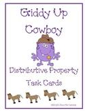 Giddy Up Cowboy Distributive Property Task Cards