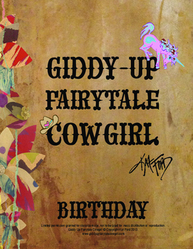 Birthday Coloring Pages: Giddy-Up Fairytale Cowgirl