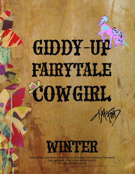 Winter Coloring Pages: Giddy-Up Fairytale Cowgirl