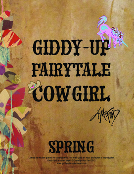 Spring Coloring Pages: Giddy-Up Fairytale Cowgirl