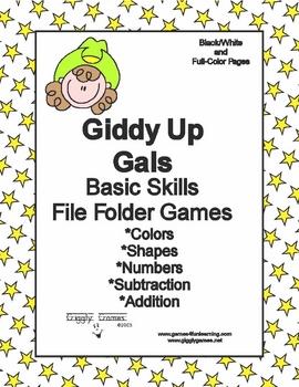 Giddy Up Gals Basic Skill File Folder Games