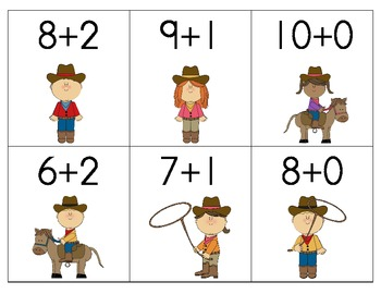Giddy Up, Little Partners!  Addition Facts 6 to 10