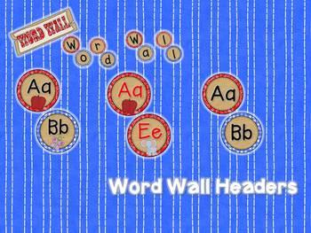 Giddy Up! Western Themed Word Wall Headers & 220 Word Wall Words {Editable}