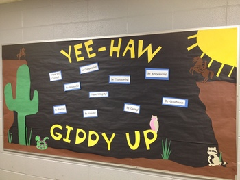 Giddy Up for Good Character Bulletin Board