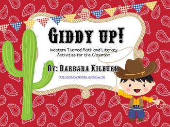 Giddy up!  Western Themed Math and Literacy Activities