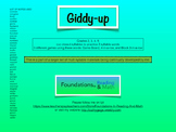 Giddy-up - a Closed 2 Syllable card game for Intervention,