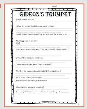 gideons trumpet movie