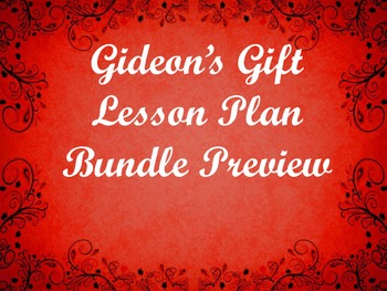 Gideon's Gift - Christmas Novel - 3 week unit