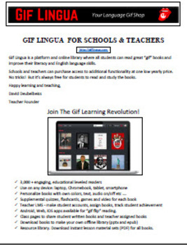 Gif Lingua Leveled Readers + Quizzes