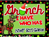 Grinch Day Nonsense Word Fluency RTI I HAVE WHO HAS Game (Red and Green Theme)