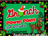 Grinch Day Nonsense Word Fluency R.T.I. Power Point (Red and Green Theme)