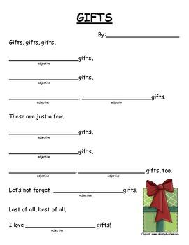 Gift Adjective Poem