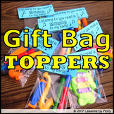 Gift Bag Toppers / Reading / Articulation