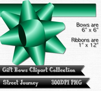 Gift Bow and Ribbon Clipart Collection 18 PNG with transparent background