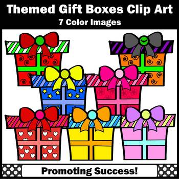 Gift Boxes Clipart, Holidays Clip Art, Presents Clipart, Commercial Use SPS