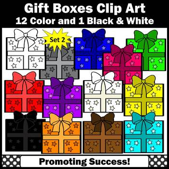 Gift Boxes Clipart Stars Theme Birthday Gifts Clip Art,Commercial Use SPS