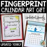 2019 Calendar for Parent Gift Fingerprint ART Keepsake GIFT UPDATED