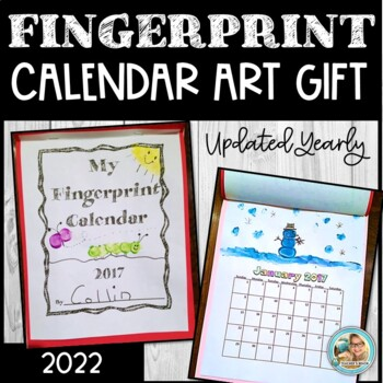 Calendar 2017 Fingerprint ART Keepsake  and GIFT