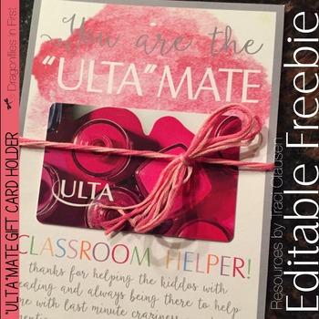 "FREE Gift Card Holder - ""Ulta""mate Helper and More!"