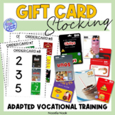 Gift Cards Work Tasks for Vocational Training in Autism Units and LIFE Skills
