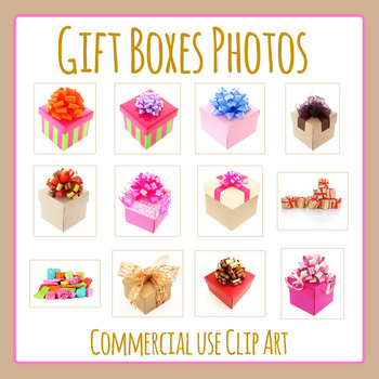 Gift Photos Clip Art Set for Commercial Use