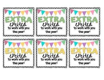 Gift Tag- Extra excited to work with you this year!