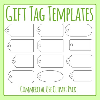 Gift Tag Templates - Commercial Use Clip Art Set