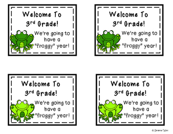 Back to School Gift Tags for 3rd Grade