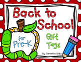 Back to School Gift Tags for Pre-K