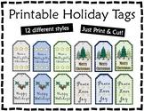 Gift Tags - Christmas - Happy Holiday Tags