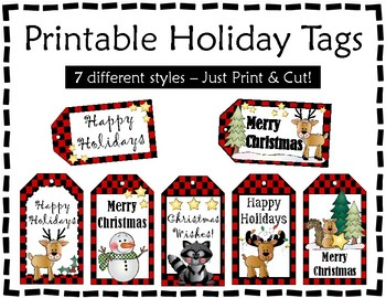 Gift Tags - Christmas Tags - Critter Holiday Tags