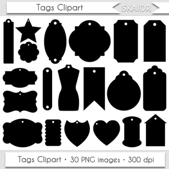 Gift Tags Clipart Frames Clip Art Digital Scrapbooking Pri
