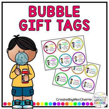 Bubble Gift Tags EDITABLE