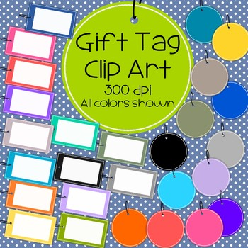 Gift Tags/Frames - Rectangular and Circle - 300 dpi