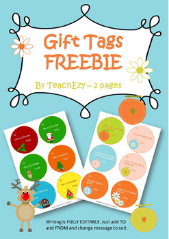 Gift Tags Freebie