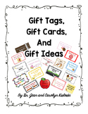 Gift Tags, Gift Cards and Gift Ideas