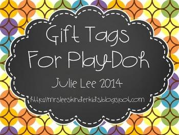 Gift Tags {Playdoh}