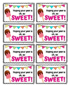 Gift Tag- Sweet Themed