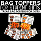 Gift Tags and Bag Toppers Pumpkin Spice Latte Themed