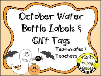 Gift Tags and Mini Water Bottle Labels FREEBIE