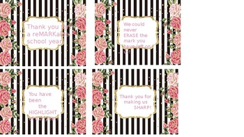 Gift Tags for Student Teacher or Para