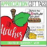 Appreciation Gift Tags (Teacher & Staff)